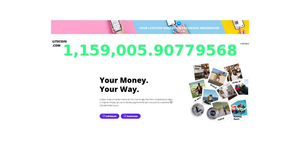 1,159,005.90779568 LTC Grootste LTC transactie tot op heden