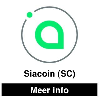Siacoin SC en cryptocurrencies bekijk je op cryptobeginner.nl