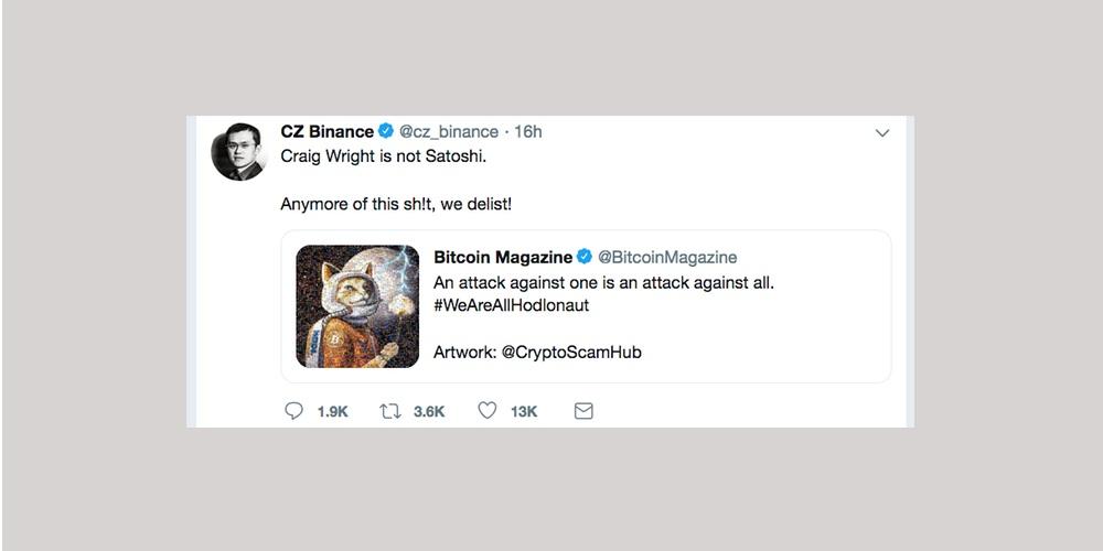 Binance dreigt met delisting van Bitcoin SV