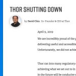 THOR Project stopt