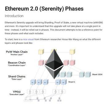 Ethereum beter schaalbaar na update 'Serenity'.